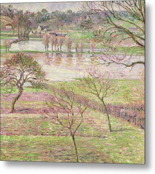 The Flood At Eragny Metal Print