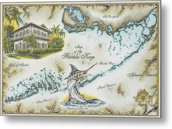 The Florida Keys Metal Print by Mike Williams