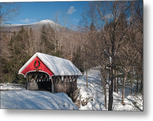 The Flume Bridge In Winter Metal Print