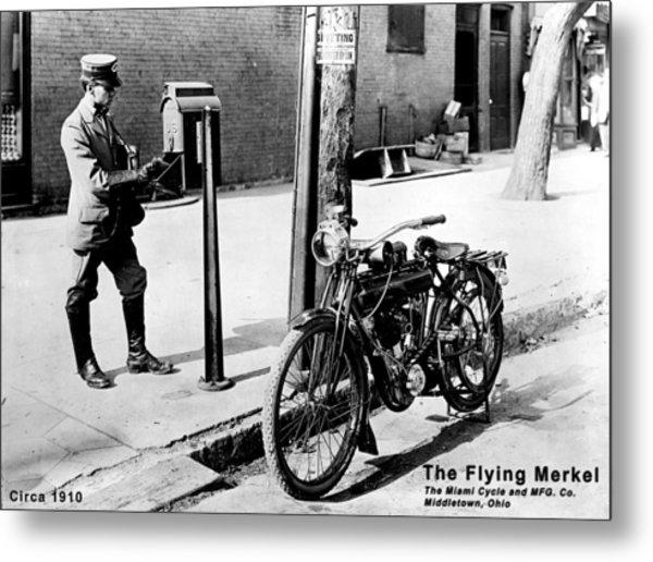 The Flying Merkel 1910 Metal Print
