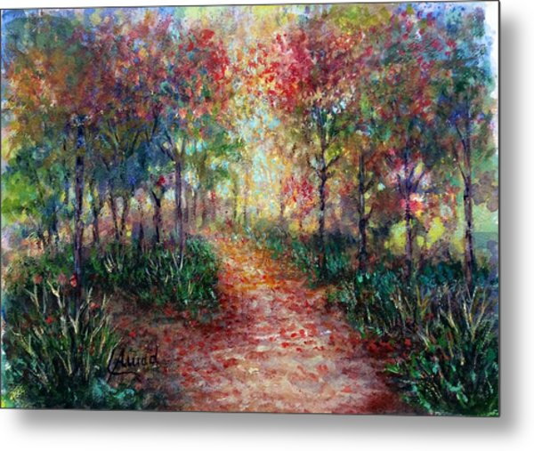 The Forest At Falltime Metal Print
