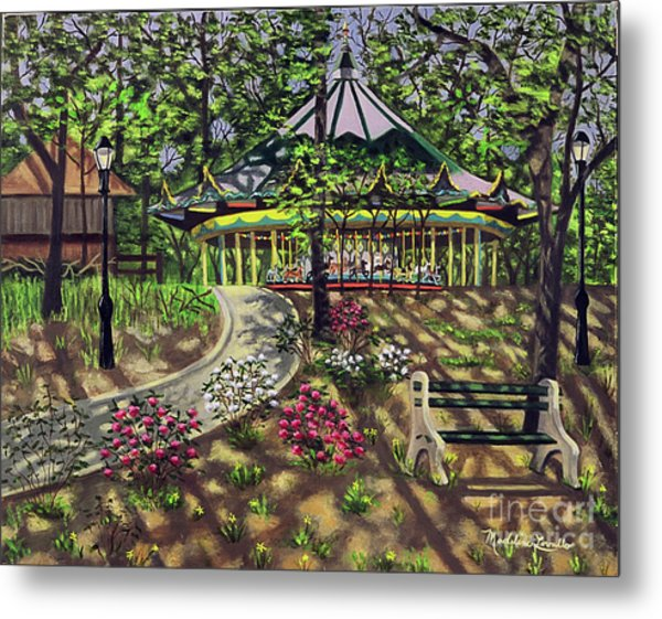 The Forest Park Carousel Metal Print