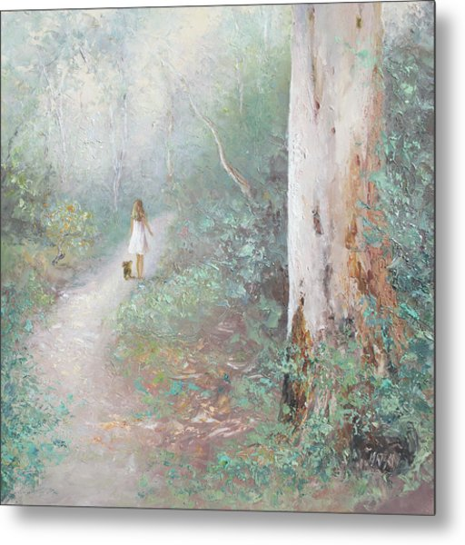 The Forest Path Metal Print