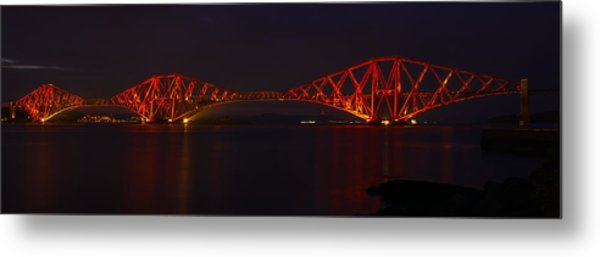 The Forth Bridge By Night Metal Print