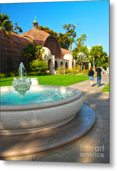 Botanical Building And Fountain At Balboa Park Metal Print