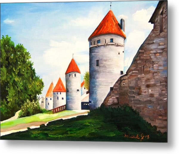 The Four Old Towers Estonia Metal Print