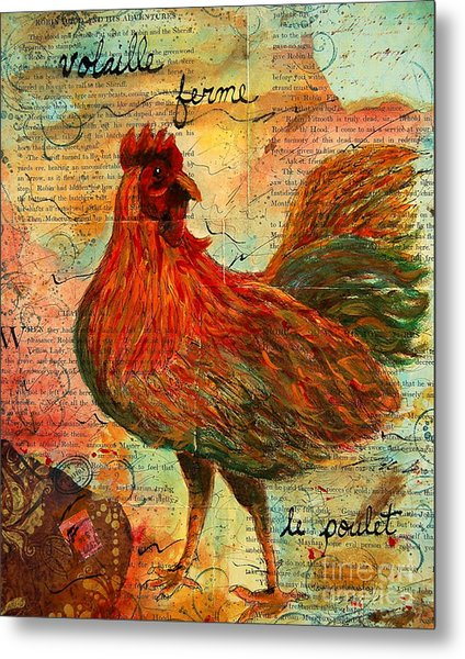 The French Chicken Metal Print