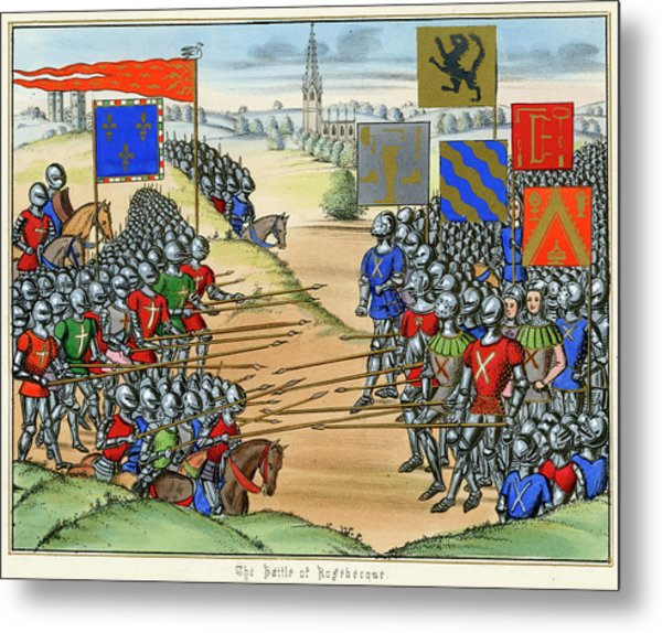 The French Defeat The Flemish Metal Print by Mary Evans Picture Library