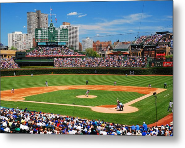 The Friendly Confines Metal Print