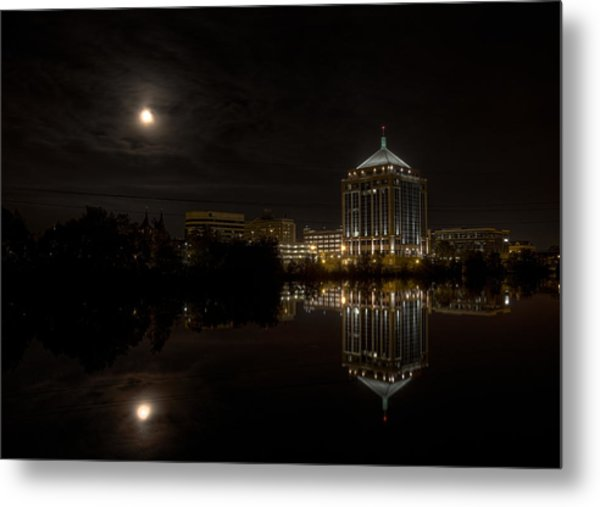 The Full Moon Over The Dudley Tower Metal Print