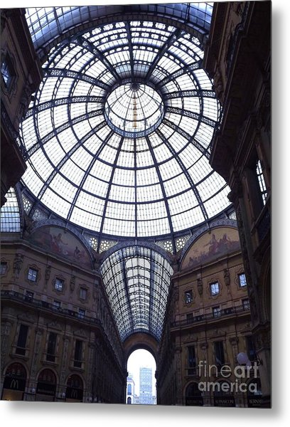 The Galleria Milan Italy Metal Print