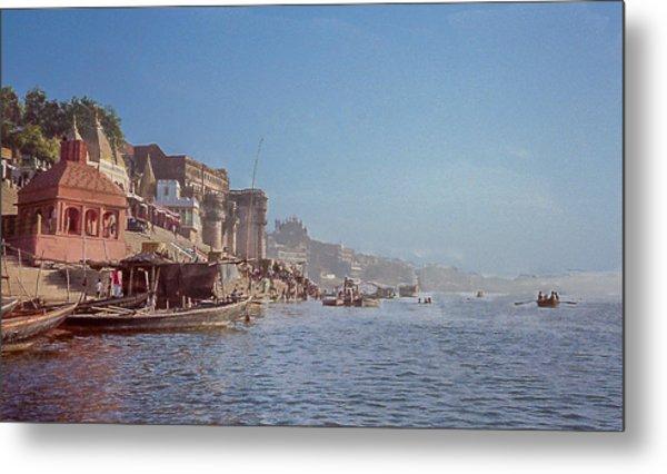 The Ganges River At Varanasi Metal Print