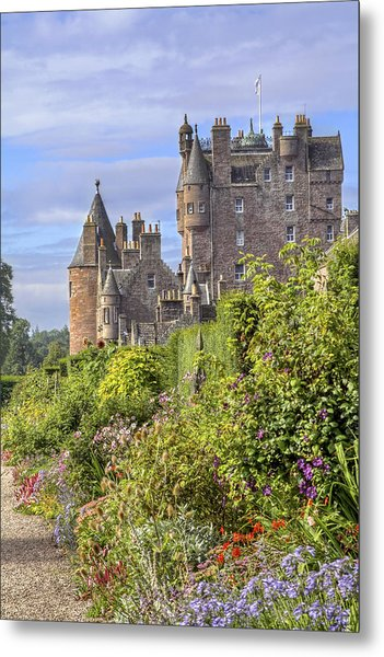 The Garden Of Glamis Castle Metal Print