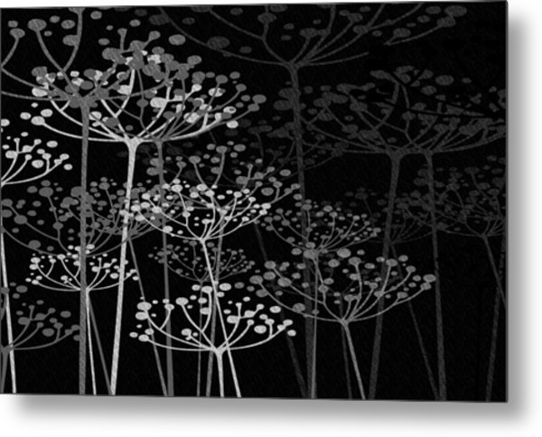 The Garden Of Your Mind Bw Metal Print