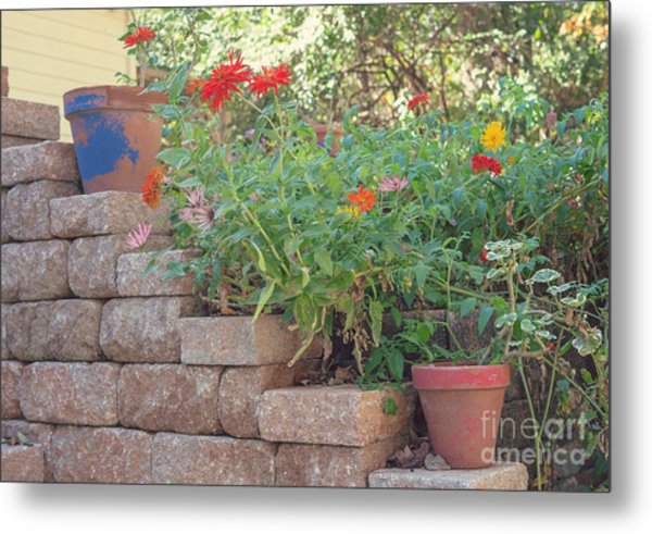 The Garden Wall Metal Print by Kay Pickens