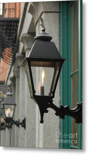 The Gas Light Metal Print