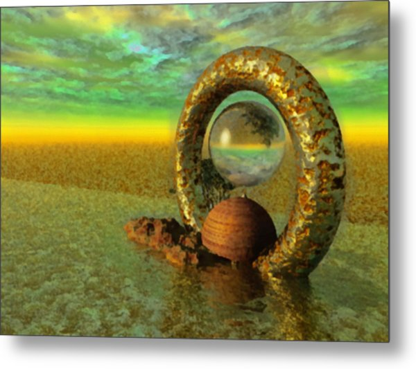 The Gate Of Reflections Metal Print