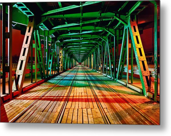 The Gdanski Bridge Metal Print