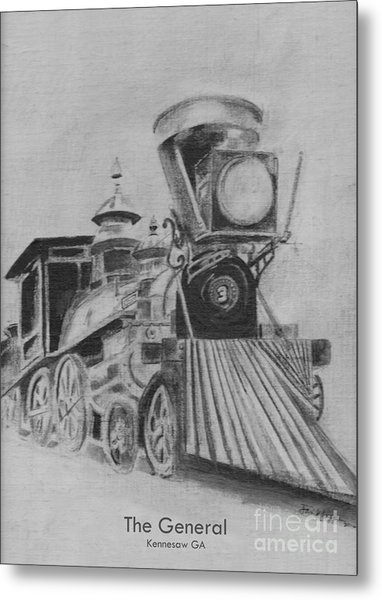 The General - Train - Big Shanty Kennesaw Ga Metal Print