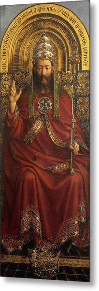 The Ghent Altarpiece Open  Metal Print