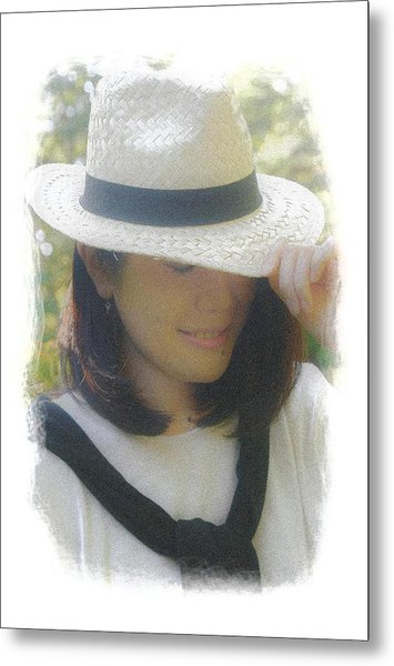 The Girl In The Straw Hat Metal Print