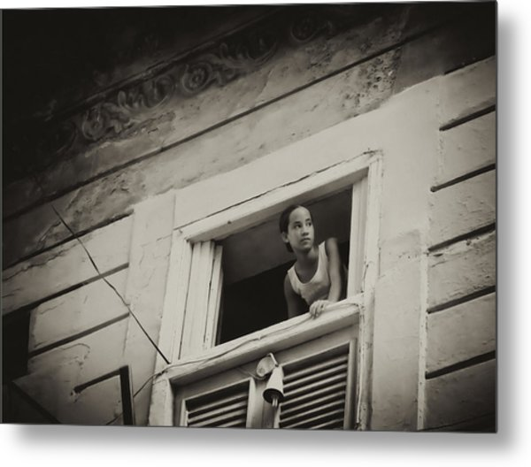 The Girl In The Window Metal Print