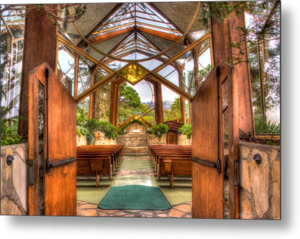 The Glass Church Metal Print