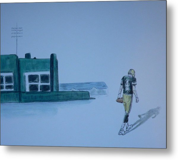 The Gold Has Left Green Bay Metal Print