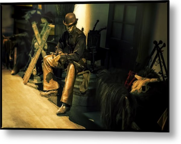 The Golden Cowboy Metal Print