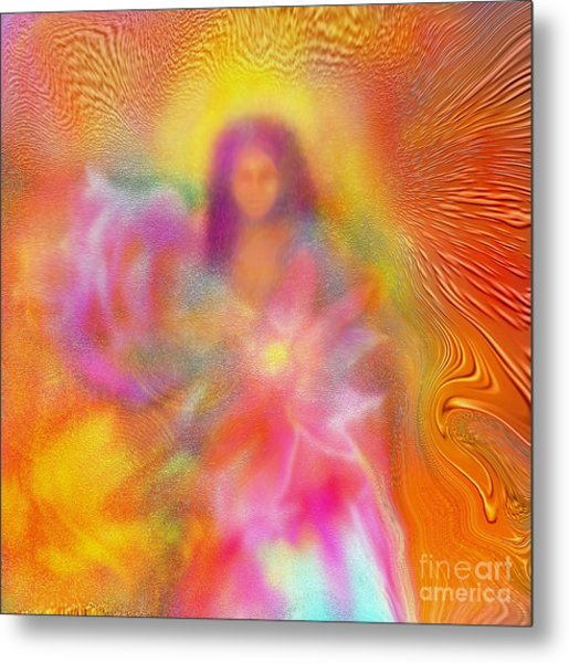 The Golden Deva Metal Print