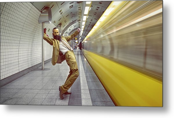 The Golden Rush Metal Print