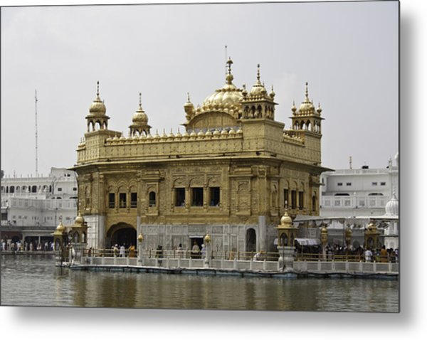 The Golden Temple In Amritsar Metal Print