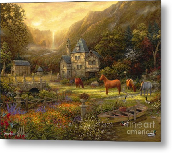 The Golden Valley Metal Print