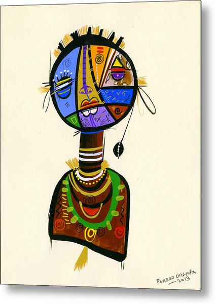 The Good Face Of Colours, 2013 Mixed Media On Card Metal Print