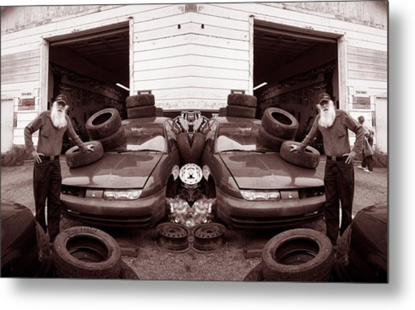 The Good Old Boy Twin's Garage Metal Print