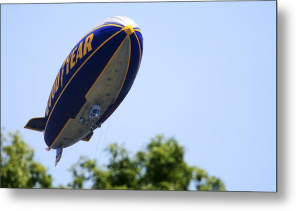 The Goodyear Blimp N3a Metal Print