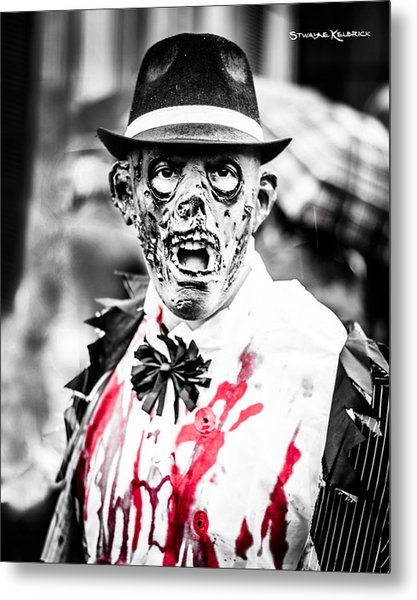 The Gory Creepy Zombie  Metal Print