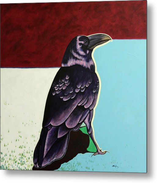 The Gossip - Raven Metal Print by Joe  Triano