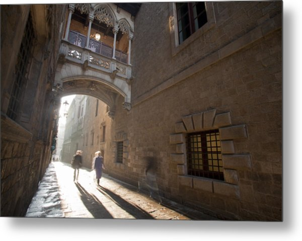 The Gothic Barcelona Metal Print by Javier Fores