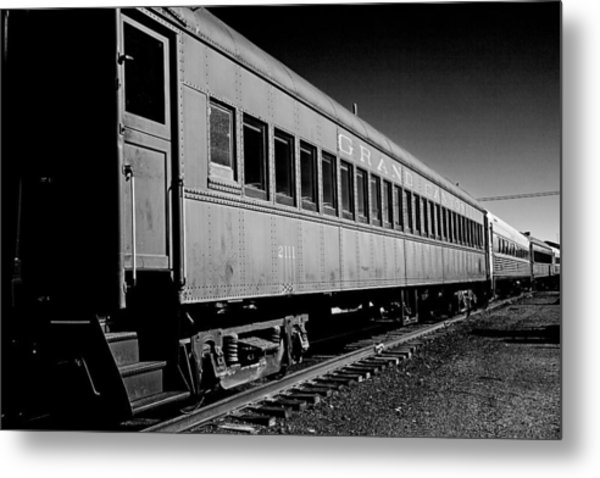 The Grand Canyon Express 1 Black And White Metal Print