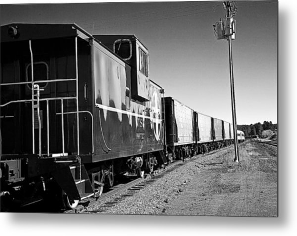 Metal Print featuring the photograph The Grand Canyon Express 2 Black And White by James Sage