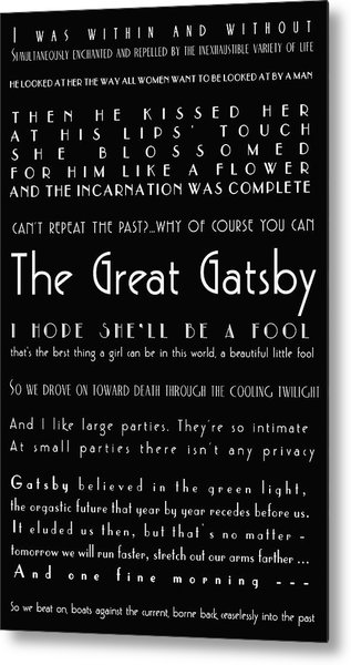 The Great Gatsby Quotes Metal Print