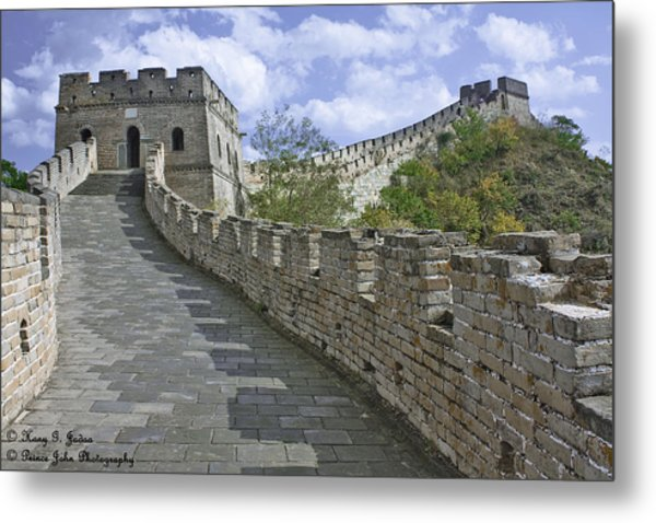 The Great Wall Of China At Mutianyu 1 Metal Print
