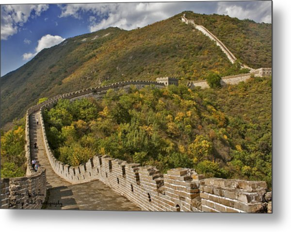 The Great Wall Of China At Mutianyu 2 Metal Print