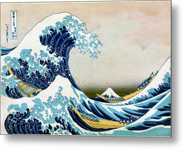The Great Wave Off Kanagawa Metal Print by Library Of Congress/science Photo Library