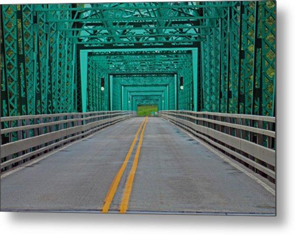 The Green Bridge Metal Print