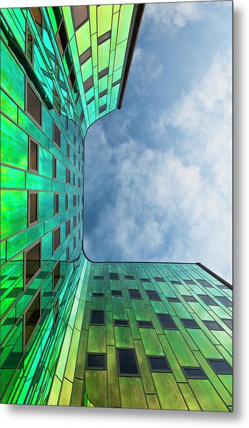 The Green Building Metal Print by Leon