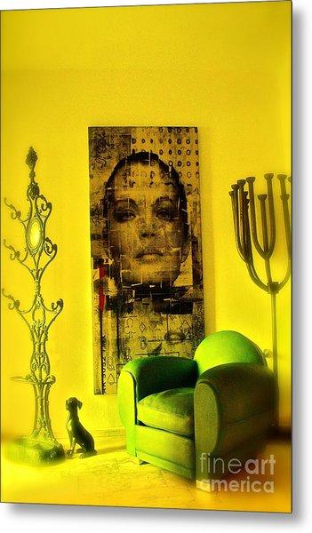 The Green Chair Metal Print by Taylor Steffen SCOTT