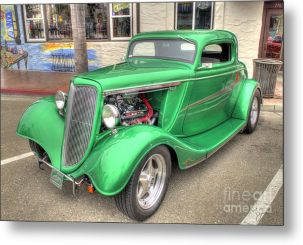 The Green Meanie Metal Print