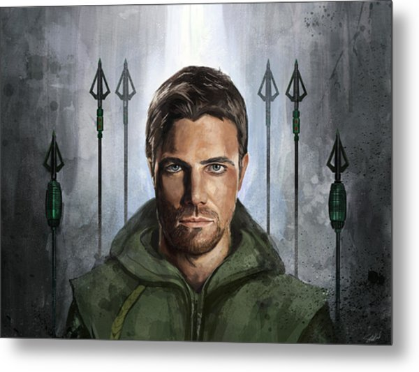 The Green Vigilante  Metal Print